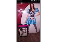 Ladies alice and wonderland fancy dress outfit complete with tights, only tried on size small
