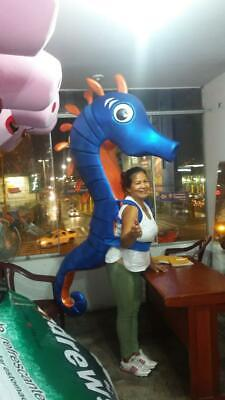 Sea Horse Animal Character Mascot Costume Cosplay Blue  (Sea Horse Costumes)