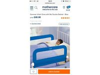 Double Blue Bed Guard for child/baby