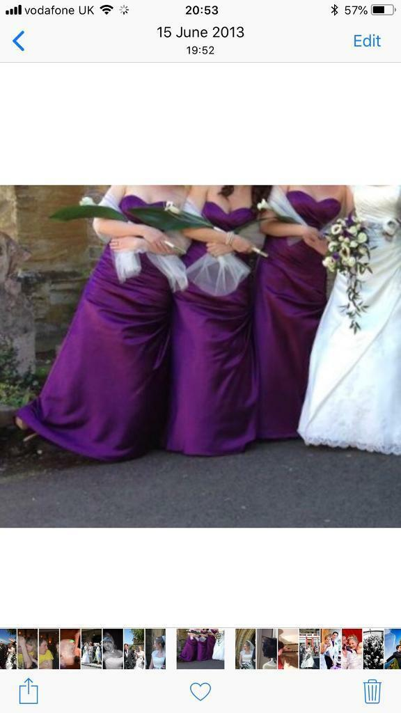 Two purple bridesmaids dresses size 12 / prom dress | in Bournemouth ...