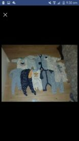 baby boy bundle babygrows and vests size new born to 1 month