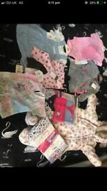 Brand new baby girls clothes 0/3 3/6
