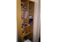Ikea - Billy bookcase (with glass doors at the bottom) - Free book stand