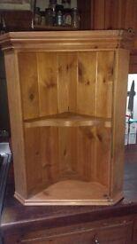 Pine wall mounted corner unit