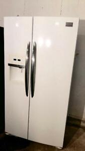 Frigidaire Gloss White Side By Side Fridge With Ice and Water Maker