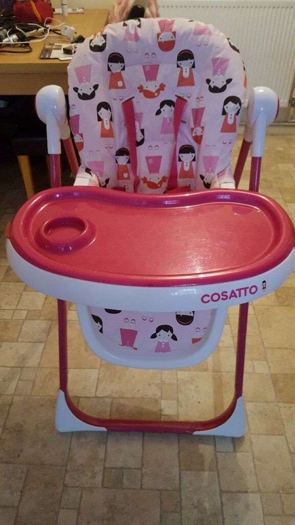 Cossatto dolly highchair, reclines and adjust height. Almosy brand new
