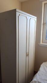 Wardrobe 2 Door White - bargain