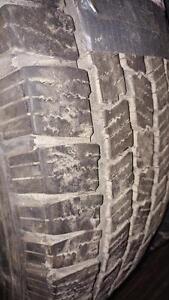 4 pneus d'été LT225/75/16 Michelin LTX M/S, 40% d'usure, 6-9/32 de mesure.