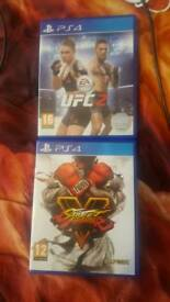 UFC 2 and STREET FIGHTER V Both mint like new/£30 cash no offers
