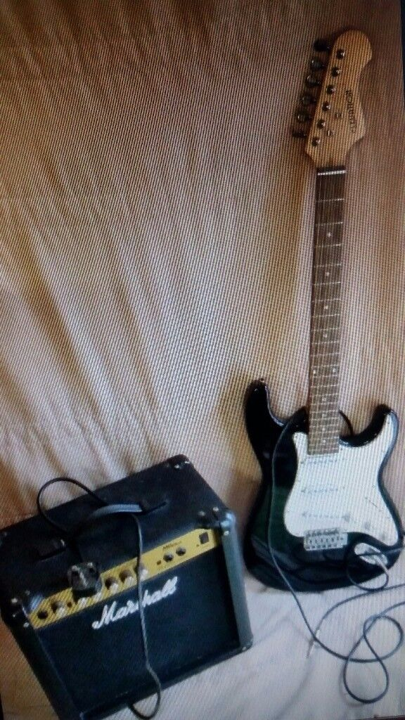 ELECTRIC GUITAR AND MARSHALL AMP