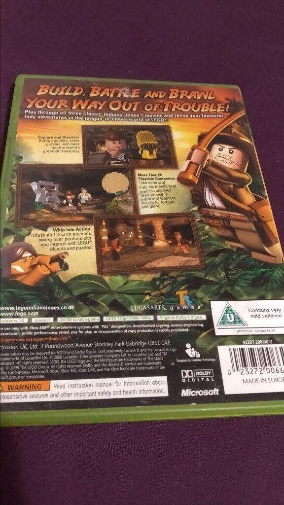 Xbox 360 Lego Indiana Jones The Original Adventure In Wath Upon