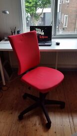 OFFICE STUDIO CHAIR with wheels RED COLOUR