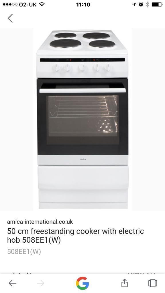 Amica electric cooker 50cm BRAND NEW
