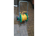 Hozelock Hose Cart with hose and extra connecting pipe etc