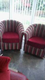 2 club chairs in excellent condition