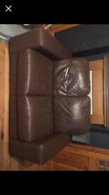2&3 brown leather sofa