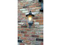2 garden wall lights