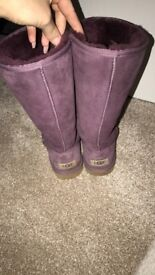 Purple UGG Australia boots size 5.5UK