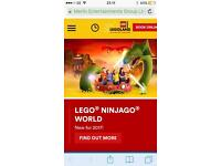 Lego land two tickets