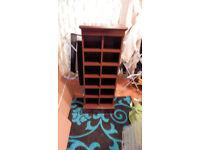 For sale: 113cmx 39.5cmx 24cm heavy wood CD storage shelves unit, VVGC, 12 boxes 17.5cm x 14cm each!