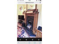 Beautiful fireplace with cast iron insert