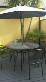 Metal patio set