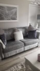 4 seater split sofa and love chair