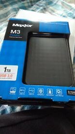 Maxtor 1tb hard drive brand new sealed