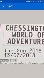 X2 Chessington tickets £16 July 13th