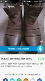 Genuion leather boots size 44