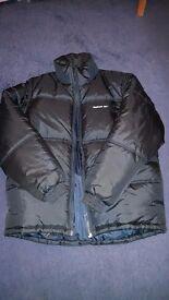 Navy Blue mens reebok puffer jacket.
