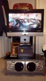 26inch TV, Speakers and stand!