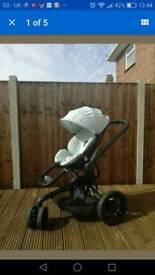 Quinny Moodd Grey Crackle Pushchair/Stroller