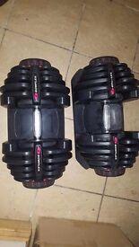 Bowflex 1050 adjustable dumbbells 10 -90 lb (4-41kg)