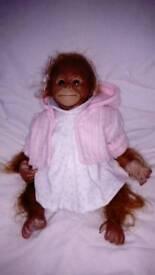 Reborn Orangutan doll