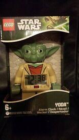 Lego Star Wars Yoda clock..New unused.