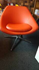 Retro red leather chair