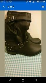 Size 7 ladies calf length boots