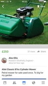 Allet classic 87cc cylinder mower