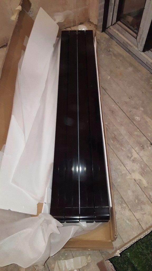 Brand New vertical black designer radiator
