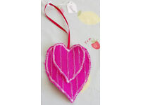 Handmade Double Side Pink Hearts Home Decor Hanging