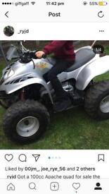 100cc apache quad