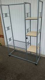 Storage clothes rail unit
