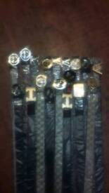 Mens belts Gucci, BOSS, louis vouitton and Versace