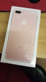 IPHONE 7 PLUS 32GB IN ROSE GOLD ON VODAFONE NEW STILL SEALED