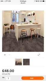 9 packs of carbon effect luxury click vinyl flooring