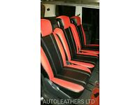 PCO CAR LEATHER SEAT COVERS TOYOTA PRIUS HONDA INSIGHT FORD GALAXY VOLKSWAGEN SHARAN VAUXHALL ZAFIRA