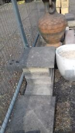 Garden Edging, Fencing Base, Post Caps, Decorative Walling ETC To Clear