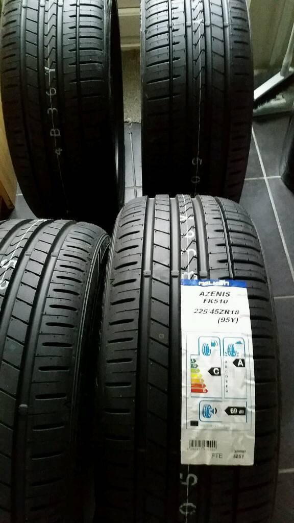 4 new summer tyres falken azenis fk 510 225 45 18 95y xl. Black Bedroom Furniture Sets. Home Design Ideas