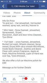 Mobile Car valets